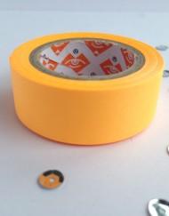 Neon oranje paper tape large
