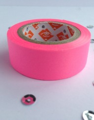 neon roze paper tape large