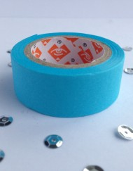 Neon blauw paper tape large