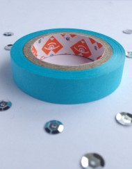 neon blauw paper tape small