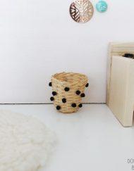 mand pompon zwart