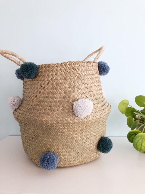 mand pompon blauw Tiny Little Cactus