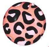Muurdecoratie leopard zalm 20mm