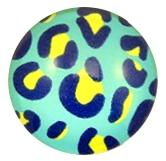 muurdecoratie leopard blauw 20mm
